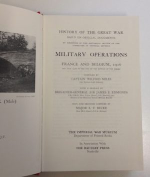 The History of the Great War