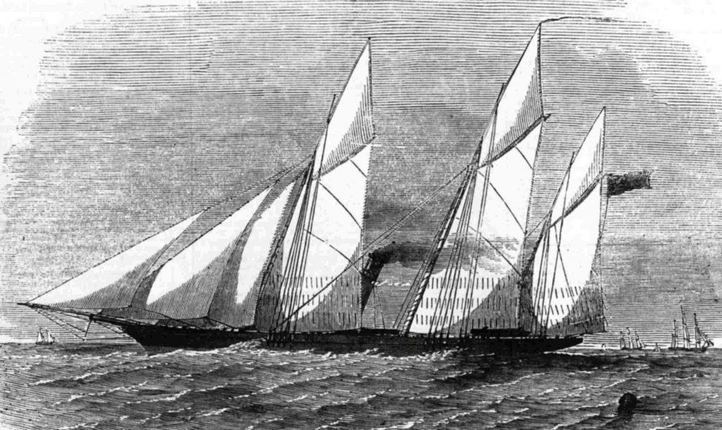 """The steam screw gunboat """"Wrangler"""""""